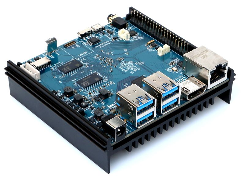ODROID-N2 single board computer coming soon for $63 and up (Amlogic S922X processor, up to 4GB RAM)