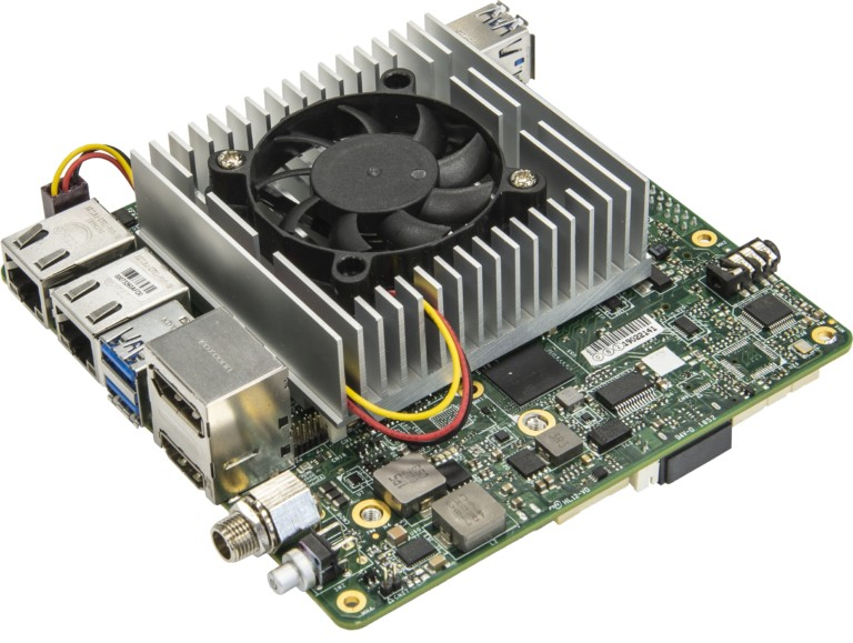 UP Xtreme is a single-board computer with a 15 watt Whiskey Lake-U processor
