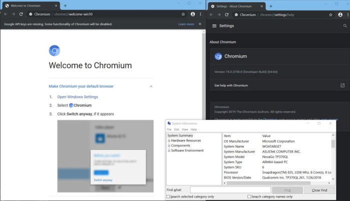 Windows on ARM to support Chrome, Opera, and Brave browsers
