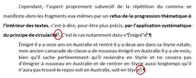 Exemple de références pour une citation de plus de trois lignes, « Comment citer avec des notes de bas de page : la méthode classique »