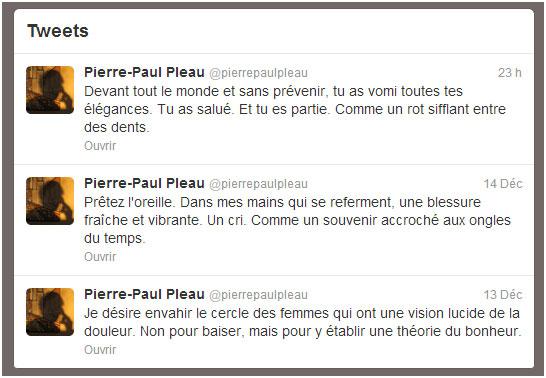 """Exemples de twittérature, @pierrepaulpleau, """"Lire sans dépenser un sou : la lecture pour ceux qui ont un budget à respecter"""""""