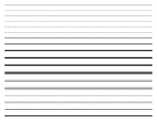 Les bordures dans Microsoft Word