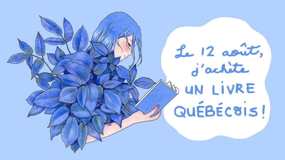 Une fée bleue qui lit un livre