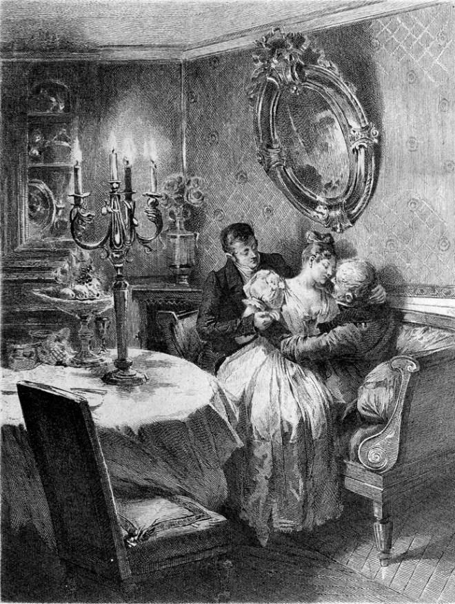 Couverture d'origine du Père Goriot de Balzac