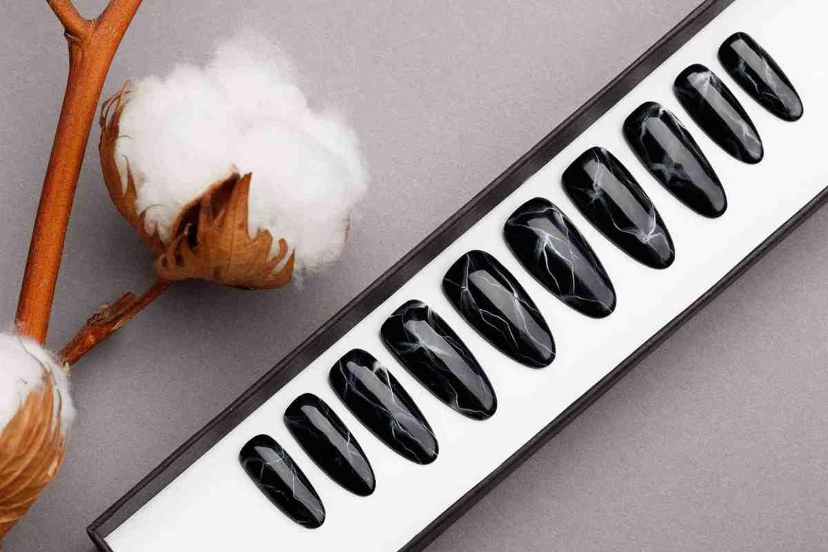 Marble Press on Nails   Handpainted Nail Art   Fake Nails   False Nails   Stone Effect