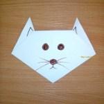 Кот оригами из бумаги