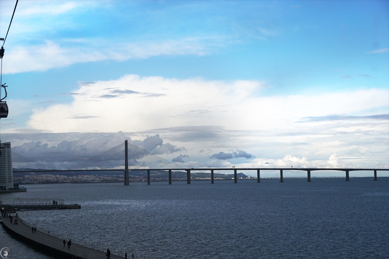 View from Telecabine Lisboa, Vasco da Gama Bridge