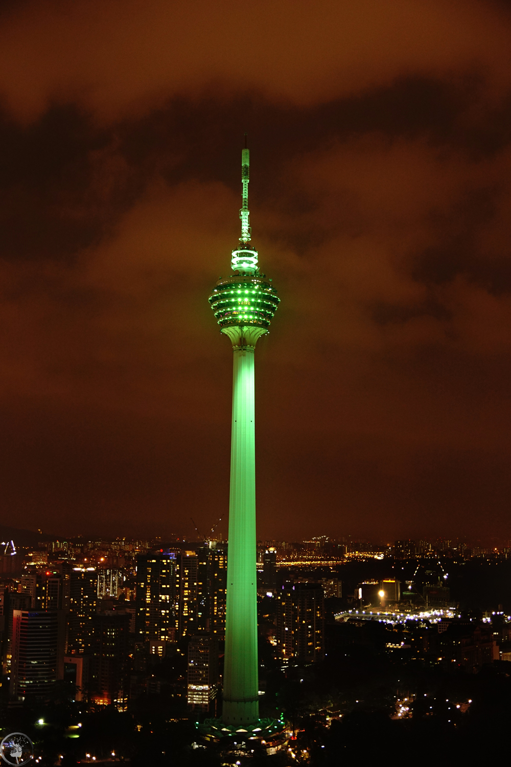 Menara Tower, Night Skyline