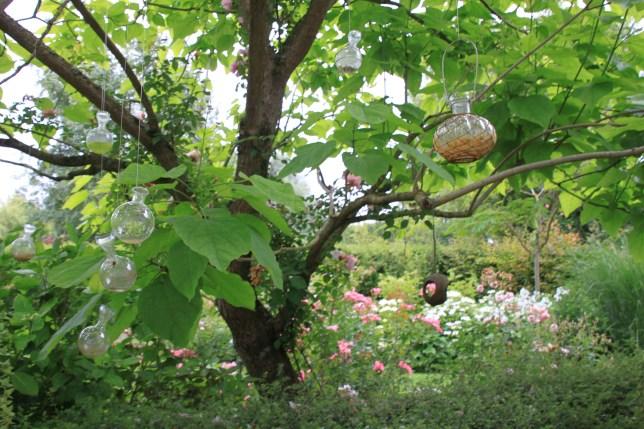 Le jardin de la goutte d'eau - fioles suspendues
