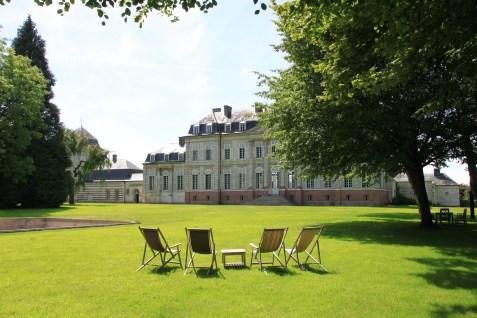 Chateau de barly - transat et façade