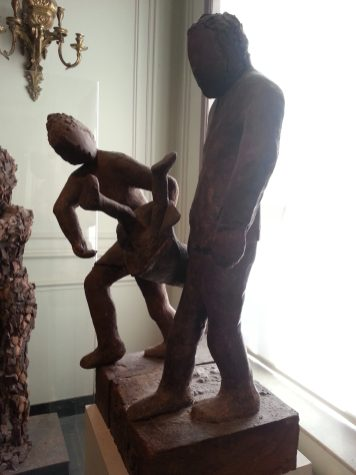 Choco-story - sculpture choco parents et enfant