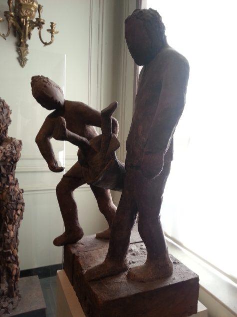 Choco-story - sculpture choco parents et enfant