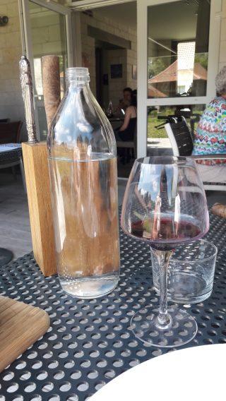 verre de vin et eau