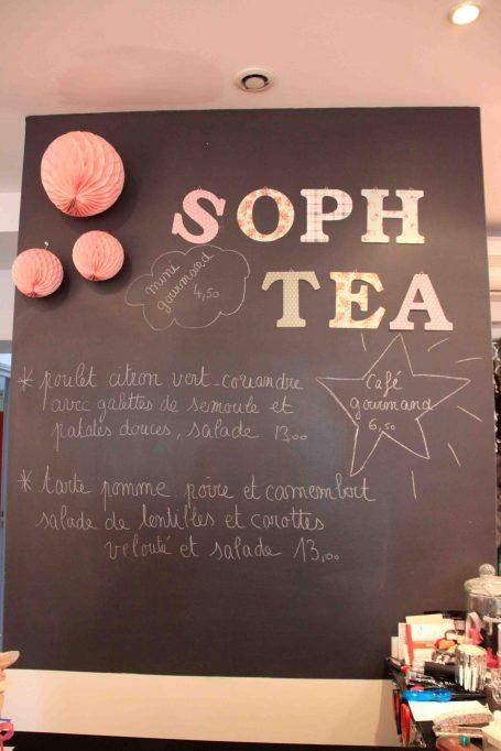 Soph Tea menu du jour