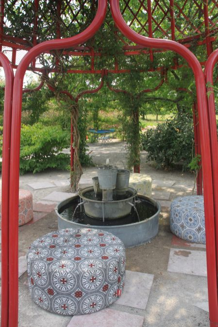jardin mosaïc - fontaine