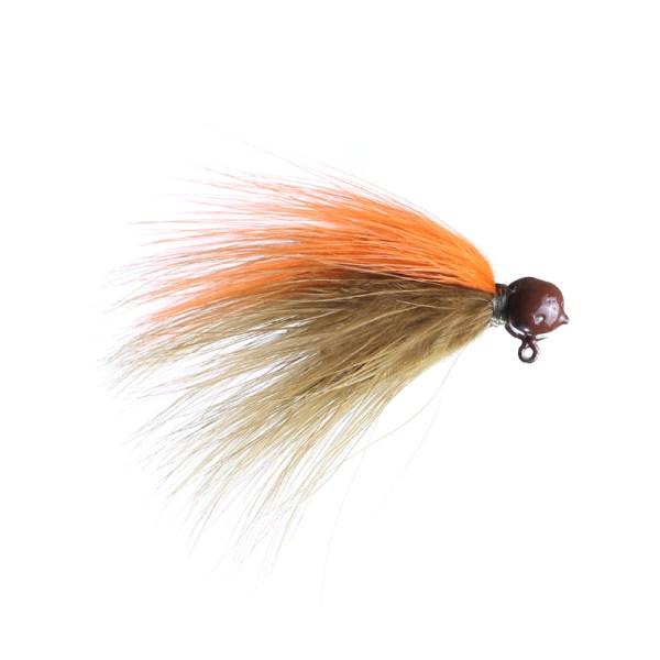 marabou jig 1/16 sculpin/orange brown head