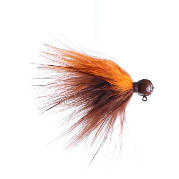 marabou jig 1/8oz brown/orange - brown head