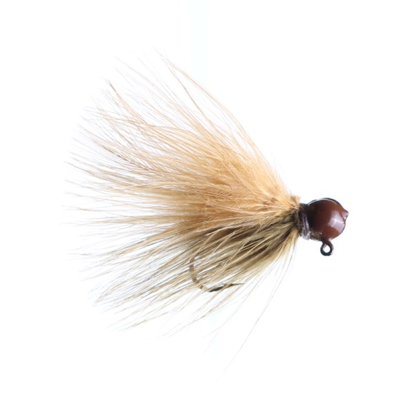 marabou jig 1/8oz sculpin/ginger - brown head