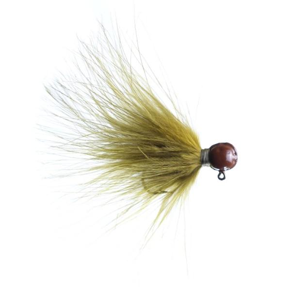 marabou jig 3/32oz olive - brown head