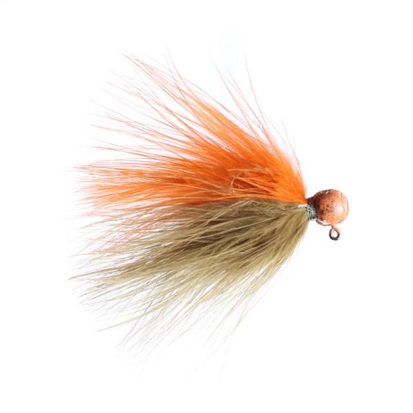 marabou jig 3/32 sculpin/orange orange head