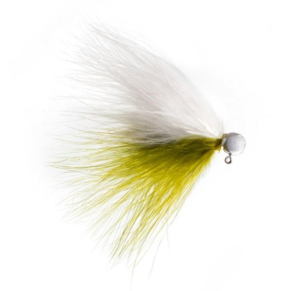 marabou jig 3-32 White Olive