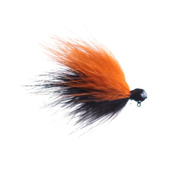 black and orange marabou jig