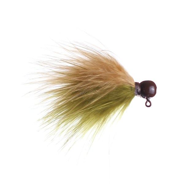 olive and ginger marabou jig
