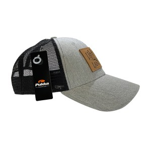 Leather Patch Hat – Heather Gray & Black