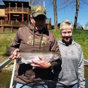 Mike Blecha rainbow trout