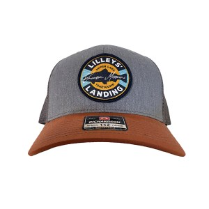 Circle Patch Hat – Heather Gray with Orange Bill
