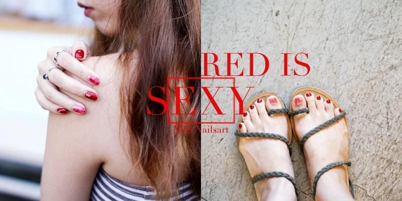 紅色系美甲|顯白的極致代表,性感又有女人味。