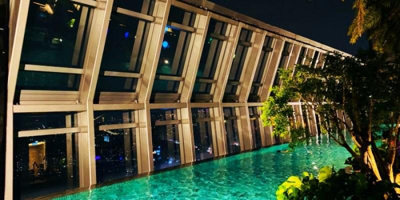 板橋住宿推薦 板橋凱撒大飯店百萬夜景、大理石浴缸、無邊際泳池