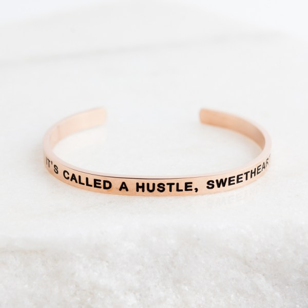 Inspirational Jewelry Bracelet Rose Gold