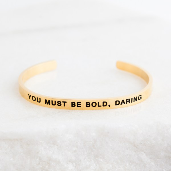 Inspirational Jewelry Bracelet Gold