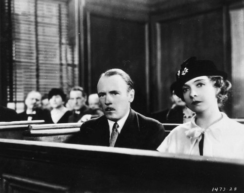 Roland Young and Lillian Gish at Trial