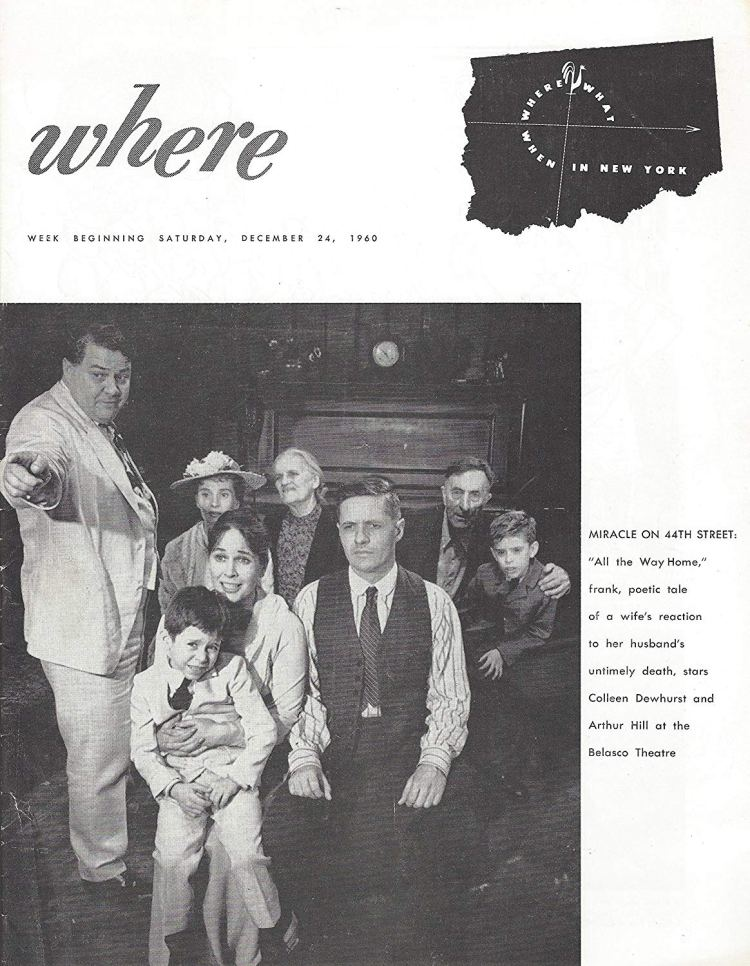Colleen Dewhurst ALL THE WAY HOME Arthur Miller - Lillian Gish 1960 New York's - Where