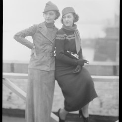 Nell Dorr (1893-1988); [Two women standing at railing view 2]; nitrate negative; Amon Carter Museum of American Art; Fort Worth TX; P1990.47.3517