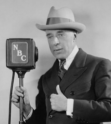 American film director D. W. Griffith (1875 - 1948) makes an NBC radio broadcast, circa 1933. (Photo by Archive Photos/Getty Images)