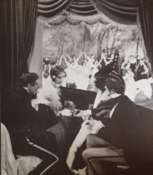 Lillian Gish and Roy D'Arcy in a scene from La Boheme