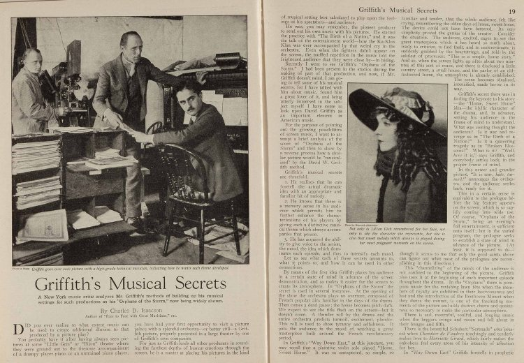 Picture Play (Street & Smith, June 1922) Griffith musical secrets