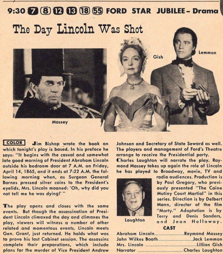 The day Lincoln was Shot - Ford Star Jubilee