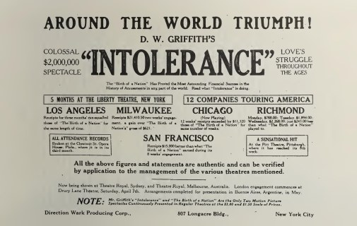 Intolerance advert