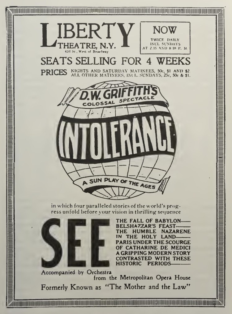 Intolerance advert2