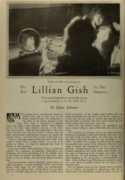 Photoplay (Aug 1918) Real Lillian Gish 1