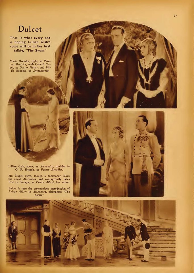 Picture Play Magazine (Jan 1930) Lillian Gish in The Swan