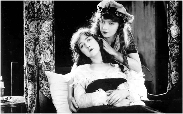 """Dorothy and Lillian Gish in """"Orphans of the Storm"""" (1921)"""