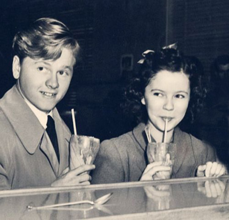 Mickey Rooney and Shirley Temple