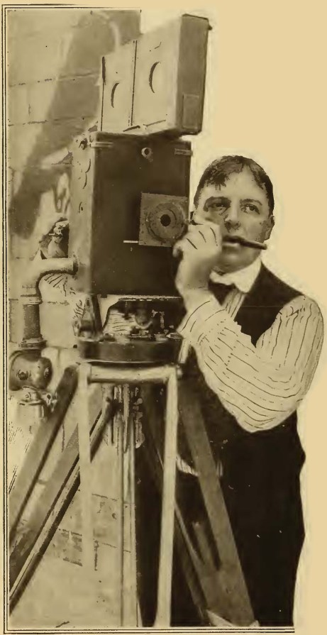 Billy Bitzer filming Intolerance with his Pathe camera
