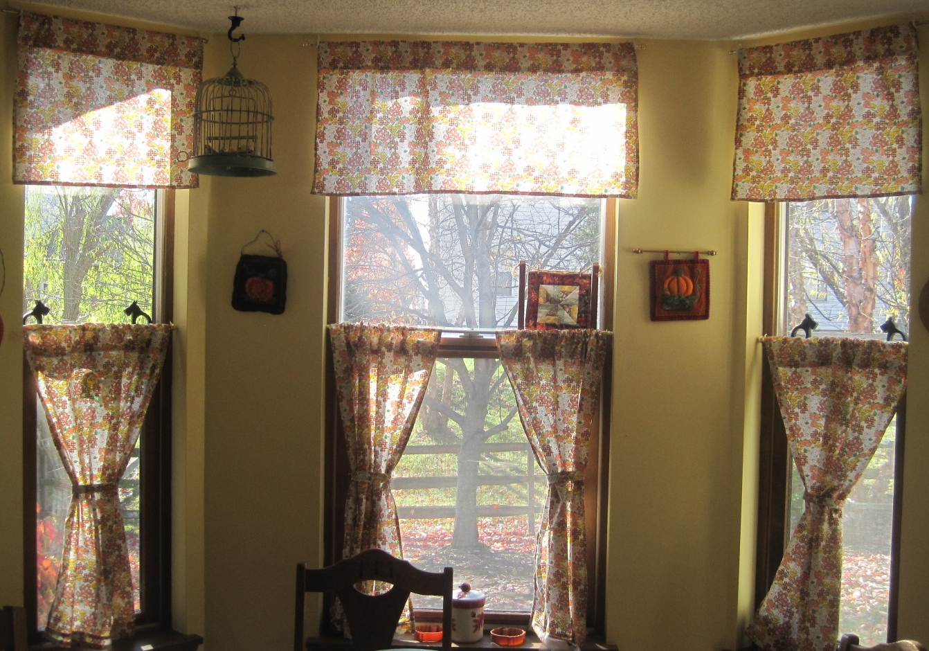 fall kitchen curtains bargain outlet cabinets winter lillian 39s cupboard