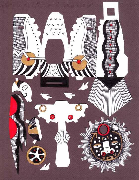 Lillian Trettin_ cut paper art
